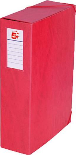 5 Star™ Dokumentenbox Karton, rot, 90mm