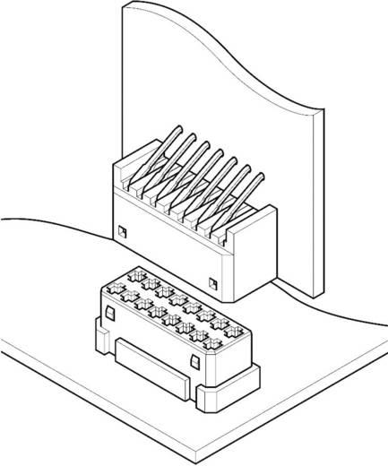 Stiftgehäuse-Platine JED JST 16PS-JED Rastermaß: 1.25 mm 1 St.