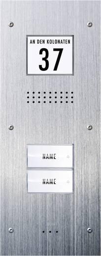 Türsprechanlage Kabelgebunden Außeneinheit m-e modern-electronics ADV-320 2 Familienhaus Edelstahl