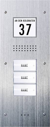 Türsprechanlage Kabelgebunden Außeneinheit m-e modern-electronics ADV-330 3 Familienhaus Edelstahl