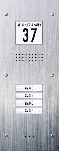 m-e modern-electronics ADV-340 Türsprechanlage Kabelgebunden Außeneinheit 4 Familienhaus Edelstahl
