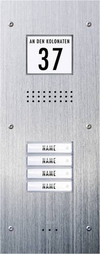 Türsprechanlage Kabelgebunden Außeneinheit m-e modern-electronics ADV-340 4 Familienhaus Edelstahl