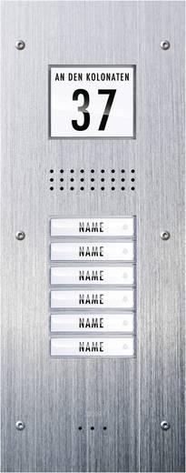 Türsprechanlage Kabelgebunden Außeneinheit m-e modern-electronics ADV-360 6 Familienhaus Edelstahl