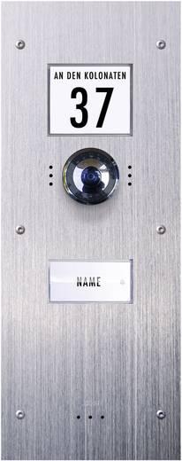 m-e modern-electronics VDV-810 Video-Türsprechanlage Kabelgebunden Außeneinheit 1 Familienhaus Edelstahl