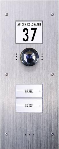 Video-Türsprechanlage Kabelgebunden Außeneinheit m-e modern-electronics VDV-820 2 Familienhaus Edelstahl