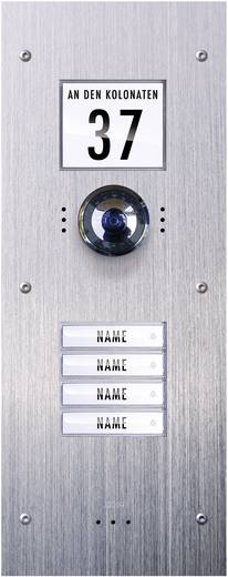 m-e modern-electronics VDV-840 Video-Türsprechanlage Kabelgebunden Außeneinheit 4 Familienhaus Edelstahl