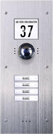 Video-Türsprechanlage Kabelgebunden Außeneinheit m-e modern-electronics VDV-840 4 Familienhaus Edelstahl