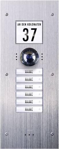 m-e modern-electronics VDV-860 Video-Türsprechanlage Kabelgebunden Außeneinheit 6 Familienhaus Edelstahl