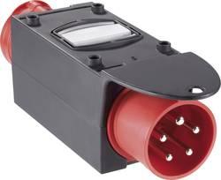CEE adaptér PCE, 9436422, zástrčka 32 A ⇒ zásuvka 16 A, IP44, červená/černá