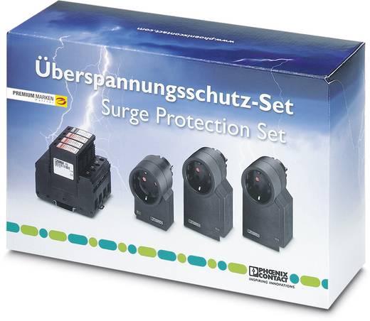 Überspannungsschutz-Ableiter Set Überspannungsschutz für: Verteilerschrank, Steckdosen, DVB-C, Kabel (Koax), DVB-S, Sat