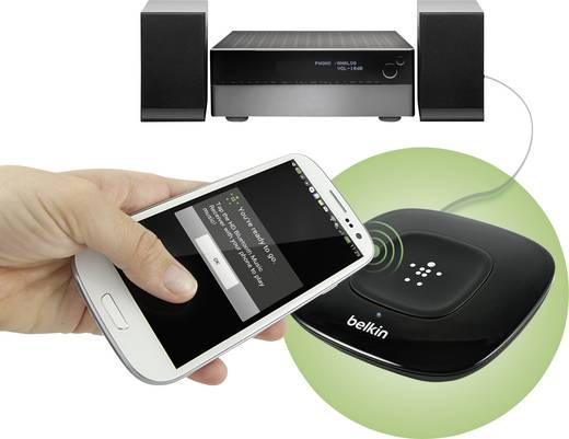 Bluetooth® Musik-Empfänger Belkin G3A2000cw Bluetooth Version: 2.0, A2DP 30 m unterstützt NFC-Übertragung