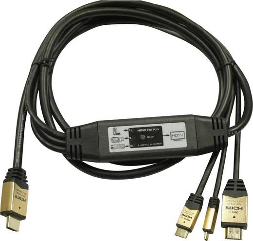 SpeaKa HDMI-Umschalterkabel 3-1, 2 m
