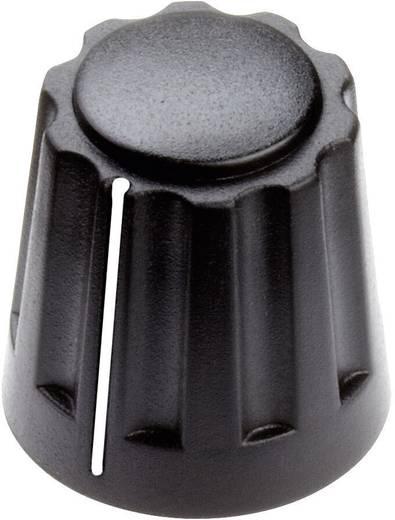 Drehknopf mit Zeiger Schwarz (Ø x H) 14.5 mm x 14 mm Mentor 4331.6001 1 St.