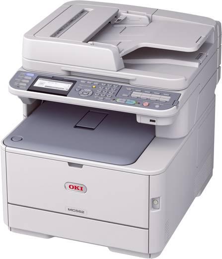 OKI MC562dnw Farblaser-Multifunktionsdrucker A4 Drucker, Scanner, Kopierer, Fax LAN, WLAN, Duplex, ADF