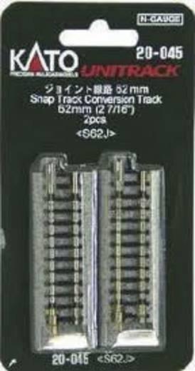 N Kato Unitrack 7078012 Übergangsgleis 62 mm