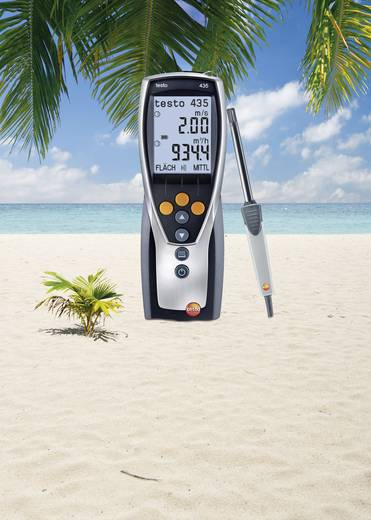 Luftfeuchtemessgerät (Hygrometer) testo Offre promotionnelle 435-2 0 % rF 100 % rF Aktions-Set Kalibriert nach: Werksst