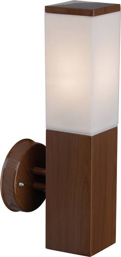 Energiesparlampe, LED E27 60 W Brilliant Dobby 41781/20 Holz, Weiß