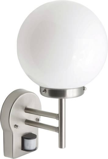 Außenwandleuchte mit Bewegungsmelder Energiesparlampe, LED E27 60 W Brilliant Aalborg 44097/82 Edelstahl