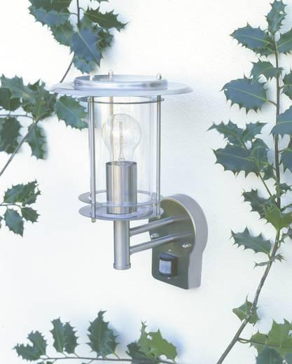 Außenwandleuchte mit Bewegungsmelder Energiesparlampe, LED E27 60 W Brilliant York 44797/82 Edelstahl