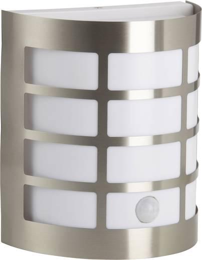 Außenwandleuchte mit Bewegungsmelder Energiesparlampe, LED E27 60 W Brilliant Rune 96183/82 Edelstahl