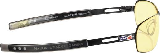 Gamer-Brille Gunnar Optiks MLG Phantom Gloss Onyx, Bernstein