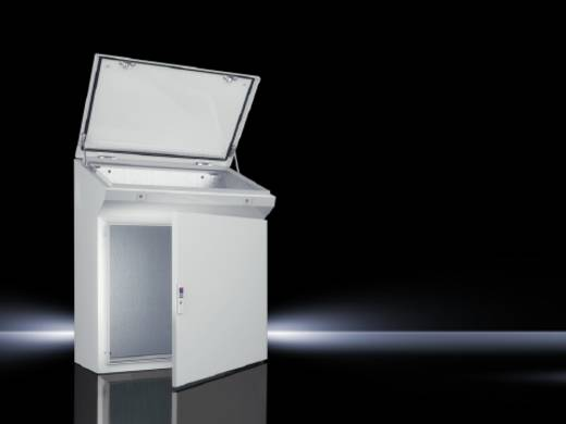 Standpult 800 x 960 Stahlblech Licht-Grau (RAL 7035) Rittal 6748.500 1 St.