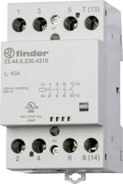 Contacteur modulaire 3 NO (T)/1 NC (R) (30/110/220 V) 40/4/1,2 A Finder 22.44.0.230.4710