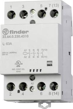 Contacteur modulaire 3 NO (T)/1 NC (R) (30/110/220 V) 63/4/1,2 A Finder 22.64.0.024.4710