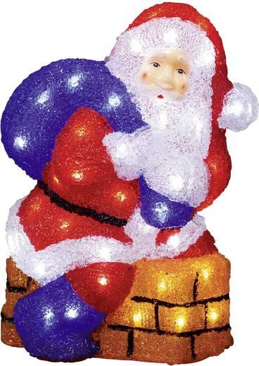 Acryl-Figur Weihnachtsmann Kalt-Weiß LED Konstsmide 6172-203 Bunt