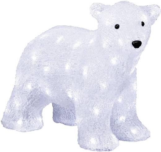 Acryl-Figur Eisbär Kalt-Weiß LED Konstsmide 6163-203 Weiß