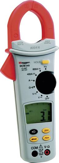 Stromzange, Hand-Multimeter digital Megger DCM340 Kalibriert nach: Werksstandard (ohne Zertifikat) CAT III 600 V Anzeig