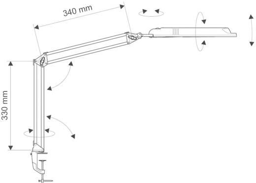 LED-Klemmleuchte 9 W Tageslicht-Weiß Maul antlantic 8203590 Schwarz