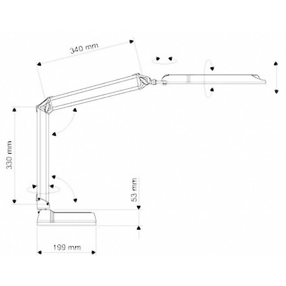 lampe led de bureau 9 w blanc lumi re du jour maul atlantic 8203602 blanc sur le site internet. Black Bedroom Furniture Sets. Home Design Ideas