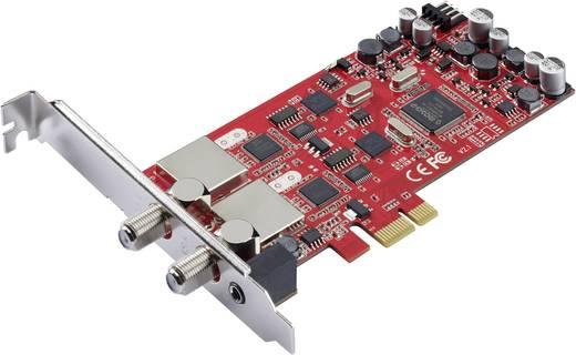 DVB-S PCIe-Karte Terratec Cinergy S2 PCI Dual mit Fernbedienung, Aufnahmefunktion Anzahl Tuner: 2