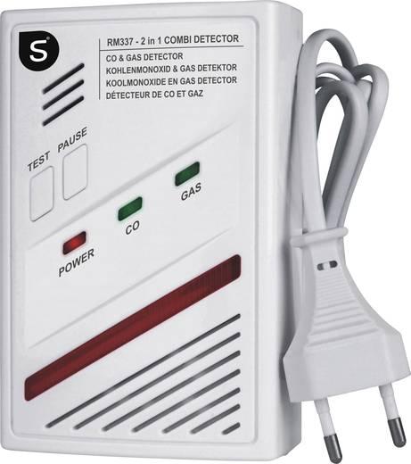 Gasmelder Smartwares RM337 SW netzbetrieben detektiert Kohlenmonoxid, Butan, Methan, Propan