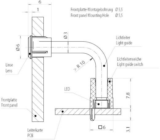 Hohllichtleiter Mentor 1216.1013 Flexibel Kartenbefestigung, Presspassung