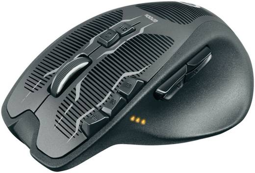 Funk-Gaming-Maus Laser Logitech Gaming G700s Rechargeable Gewichts-Tuning, Wiederaufladbar Schwarz