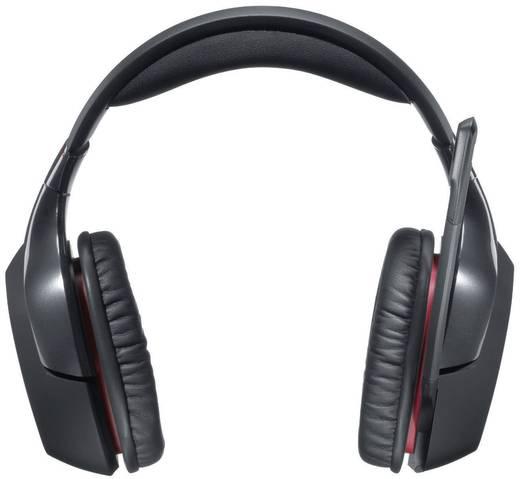 Gaming Headset USB schnurlos Logitech Gaming G930 Wireless Gaming Headset Over Ear Schwarz