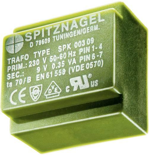 Printtransformator 1 x 230 V 2 x 9 V/AC 0.35 VA 19 mA SPK 0030909 Spitznagel