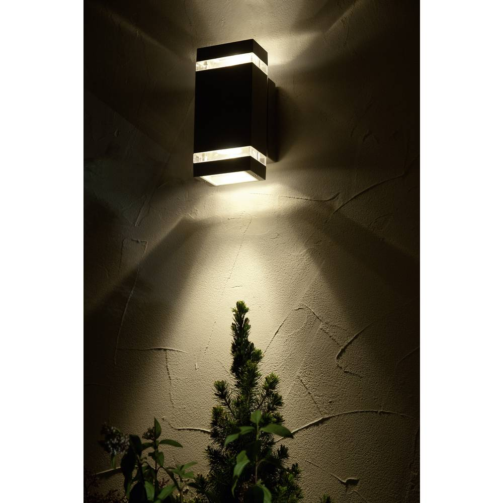 led outdoor wall light 7 6 w neutral white eco light focus. Black Bedroom Furniture Sets. Home Design Ideas