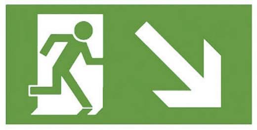 Fluchtweg-Hinweisschild abwärts rechts B-SAFETY F563-E