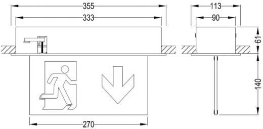 B-SAFETY BR 554 030 Fluchtweg-Notbeleuchtung Deckeneinbaumontage