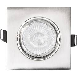 Zabudovateľný krúžok - halogénová žiarovka Basetech CT-3112 GU10, 35 W, chróm (kartáčovaný)