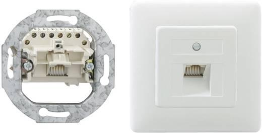Netzwerkdose Unterputz Einsatz mit Zentralplatte und Rahmen 1 Port Rutenbeck 13010245 Reinweiß
