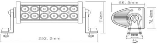 Arbeitsscheinwerfer Berger & Schröter 36 W 20196 12 V, 24 V (B x H x T) 252 x 115 x 85 mm 2300 lm 6000 K