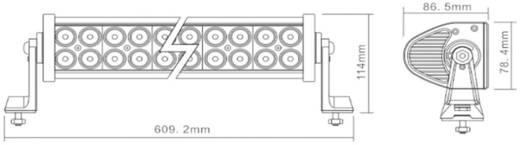 Arbeitsscheinwerfer Berger & Schröter LED-Arbeitsscheinwerfer 120 W 12 V, 24 V (B x H x T) 610 x 115 x 85 mm 7800 lm