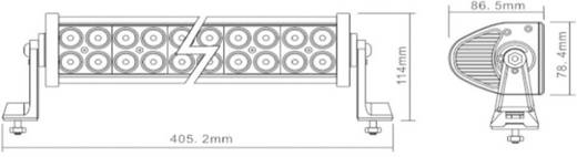 Berger & Schröter 72 W 20197 Arbeitsscheinwerfer 12 V, 24 V Nahfeldausleuchtung (B x H x T) 405 x 115 x 85 mm 4600 lm 60