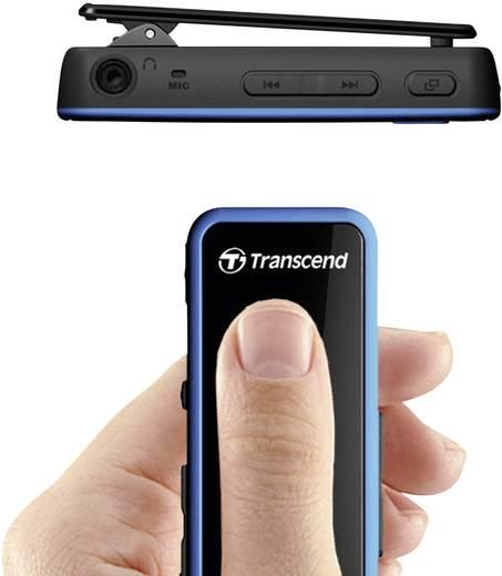 MP3-Player Transcend MP350 8 GB Schwarz, Blau Befestigungsclip, spritzwassergeschützt, Stoßfest, Schweißresistent, Fitnesstracker, Sprachaufnahme, FM Radio