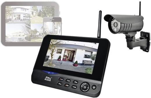 Funk-Überwachungs-Set 4-Kanal mit 1 Kamera dnt 52207 QuattSecure IP