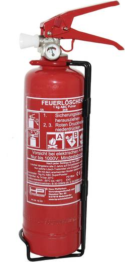 Feuerlöscher HP Autozubehör 10151 Extincteur ABC de voiture 1 kg norme DIN EN 3 Inkl. Halter